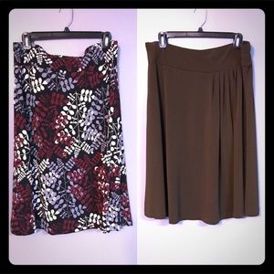EUC 2 for 1 long flowy skirts super cute and fun!
